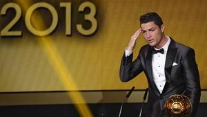 Cristiano Ronaldo picked up last year's Ballon d'Or