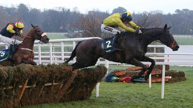 The Tullow Tank winning the Future Champions Novice Hurdle at Leopardstown
