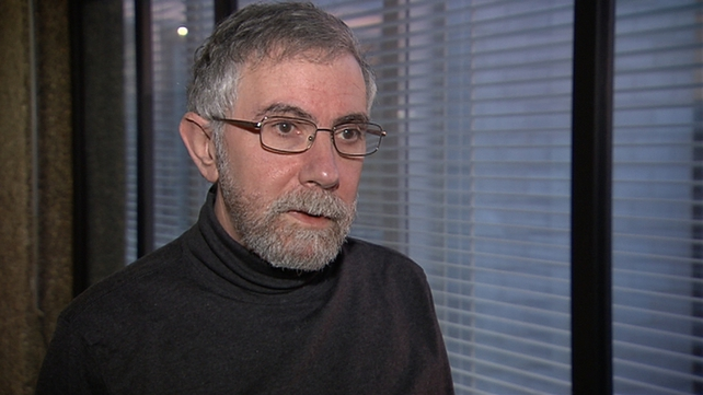Economist Paul Krugman warns of significant risk of 'low inflation or deflation' in euro zone
