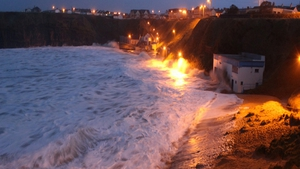 A scene from Ballybunion, Co Kerry, during the stormy weather