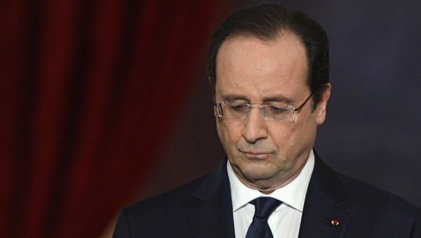 Francois Hollande said the economic announcement was not the place to address personal allegations