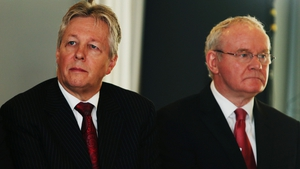 Peter Robinson and Martin McGuinness attended today's meeting on the Haass proposals