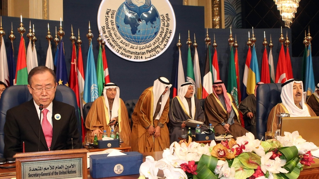 UN Secretary-General Ban Ki-moon chaired the Syria donors' conference in Kuwait