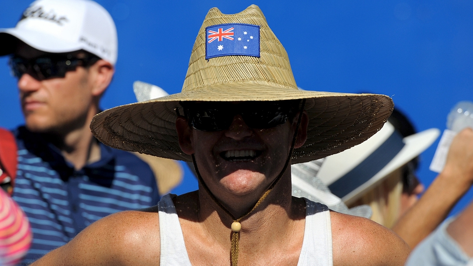 Hiding from the sun at the Australian Open