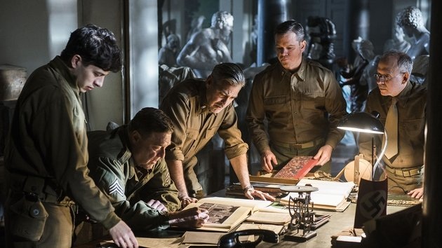 Clooney has assembled a stellar cast for this World War II movie