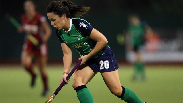 Anna O'Flanagan scored the first of Ireland's five goals