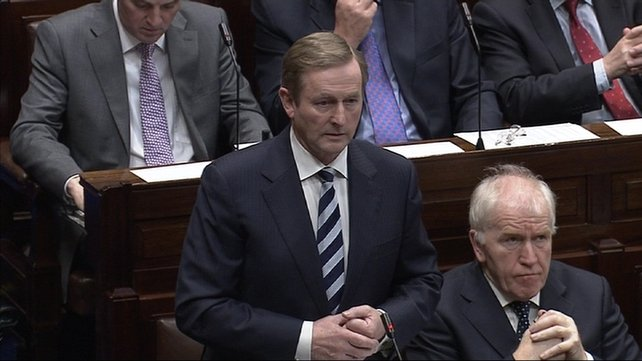 Taoiseach Enda Kenny said he was aware of the costs associated with establishing Irish Water