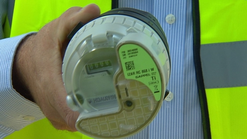 Contractors attempting to install water meters in Cork had to stop work due to a protest