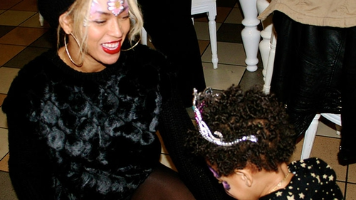 Beyoncé pictured with birthday girl Blue Ivy