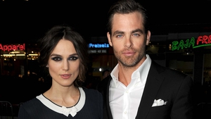 Keira Knightley and Chris Pine attended last night's premiere of the film in LA