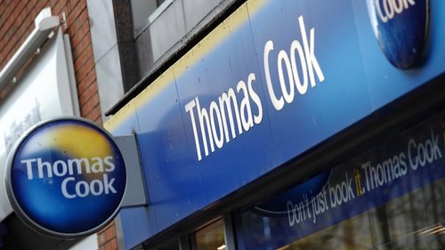 Thomas Cook also owns an airline - but is reportedly considering splitting this from its main business
