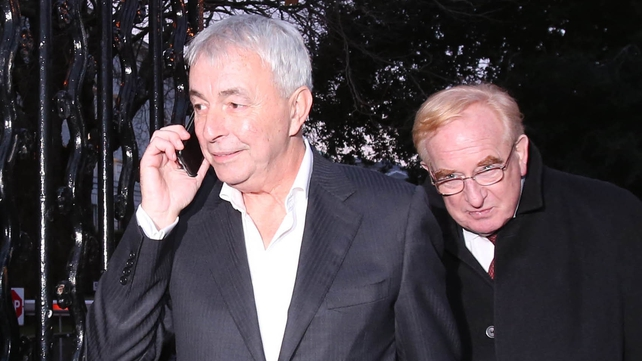 Paul Kiely's (left) total retirement package amounted to more than €740,000