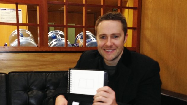 Keith Barry with the evidence after he Brain Hacked Rick O'Shea on 2fm