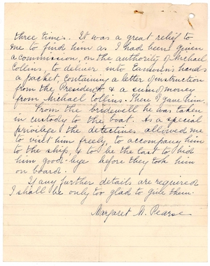 Second page of letter from Eamonn Bulfin from 10 February 1936