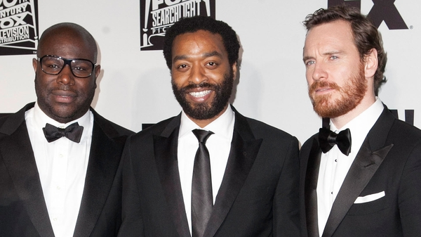 McQueen, Ejiofor and Fassbender - All Oscar-nominated for 12 Years a Slave