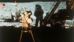 The experiment was attached to the lunar landing module on Apollo 16