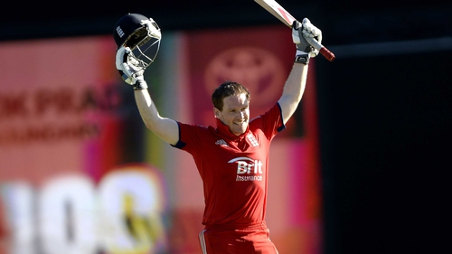 Eoin Morgan struck 106