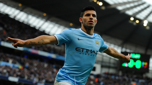 Sergio Aguero looks set to line out against West Ham in his side's final game of the season