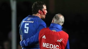 Leinster's Mike McCarthy had to leave the pitch after the incident