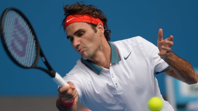 Roger Federer will face Ivo Karlovic in the second round
