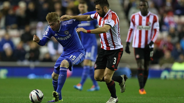 Kevin de Bruyne in one his rare starts for Chelsea against Sunderland earlier this season