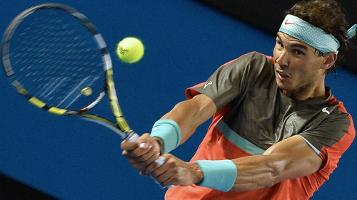Rafa Nadal signalled his intent in seeing off Gael Monfils