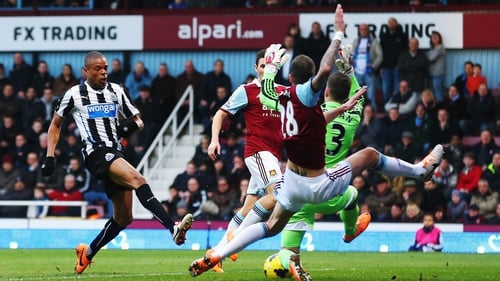 Loic Remy grabbed Newcastle's second as the Geordies beat West Ham