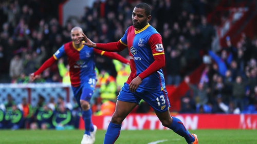 Jason Puncheon celebrates after scoring for Crystal Palace against Stoke