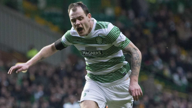 Ireland international Anthony Stokes earned Celtic a penalty, which was scored by Kris Commons