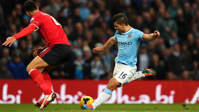 Sergio Aguero scored City's fourth