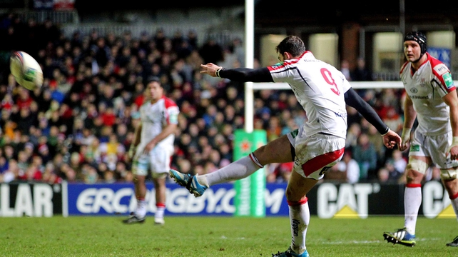 The outstanding Ruan Pienaar scored all of Ulster's points