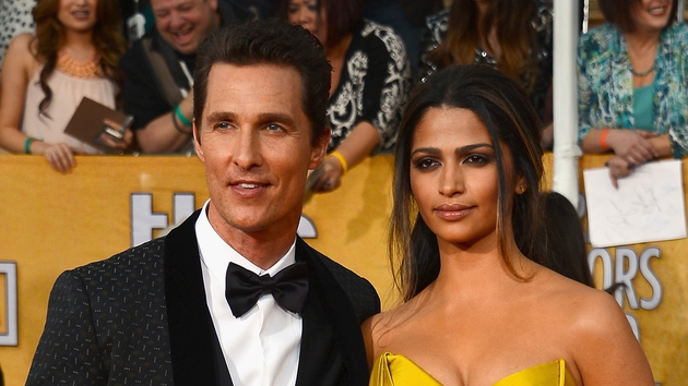 Matthew McConaughey and his wife Camilla Alves at the Screen Actors Guild Awards last night
