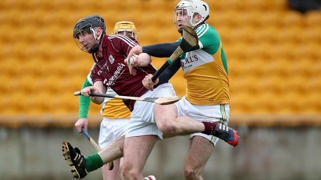 Offaly's Kevin Brady (r) and Aidan Harte of Galway