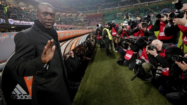 Clarence Seedorf meets the press ahead of his opening game in charge of Milan