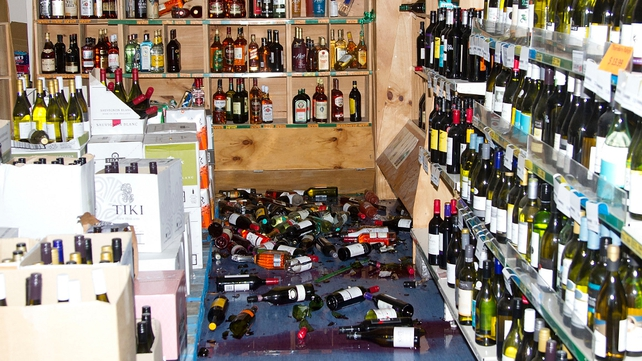 Stock items lie on a shop floor in the small Wairarapa town of Eketahuna