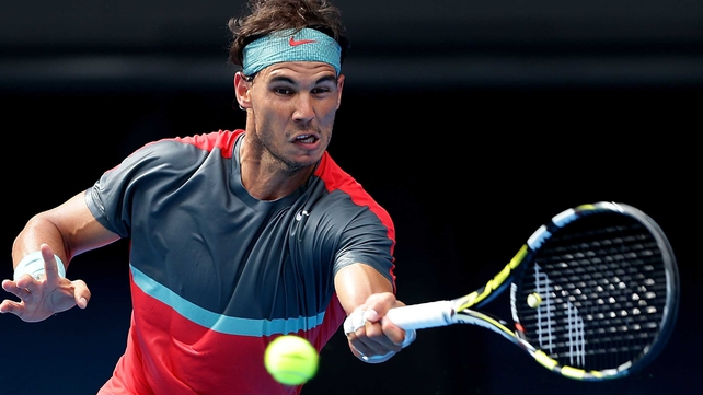 Rafael Nadal incurred a time violation from the chair for slow play