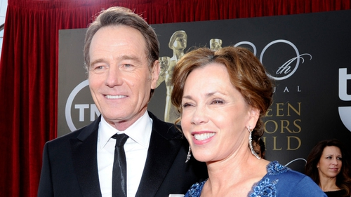 Cranston and his wife Robin Dearden at the SAG Awards on Saturday