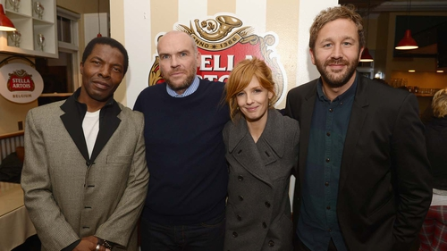 Isaach de Banhole, John Michael McDonagh, Kelly Reilly and Chris O'Dowd