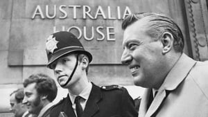 Mr Paisley smiles after being denied a visa to visit Australia