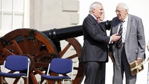 Taoiseach Bertie Ahern and Mr Paisley attend the official opening of the Battle of the Boyne site in Drogheda on 6 May 2008
