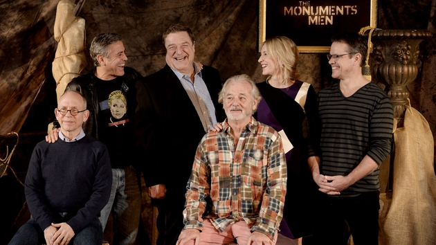 The cast of The Monuments Men had great fun on set
