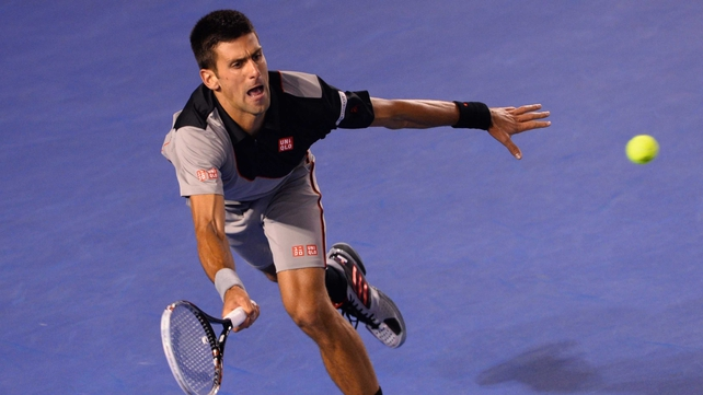 Novak Djokovic had to save two set points on way to victory