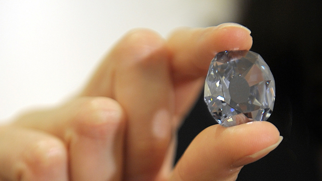 This file photo shows the famous Wittelsbach-Graff blue diamond