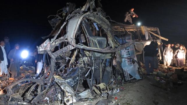 Bomb blast on bus carrying Shia pilgrims, in Quetta, Pakistan