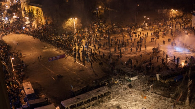 Ukraine's Prosecutor General Viktor Pshonka said the police could act to violently disperse the protest,