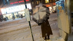 A storm alert was issued in New York with as much as 30cm of snow forecast