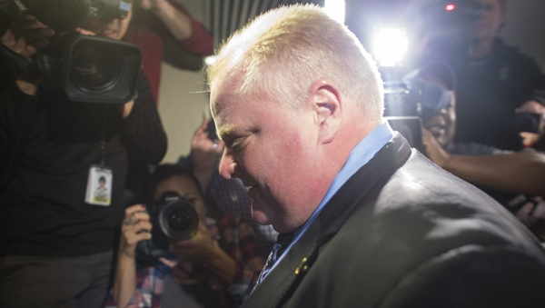 Toronto mayor Rob Ford admitted he had been drinking but said he was with friends on personal time