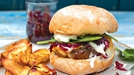 Superburger with Red Onion Marmalade, Cheddar and Sour Cream  - When you want to indulge!
