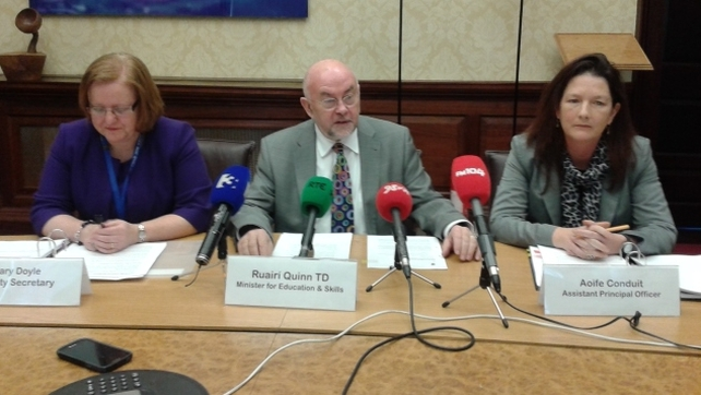 Ruairi Quinn said the move was an essential milestone for higher education
