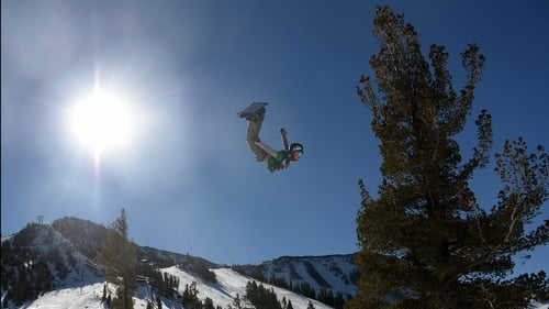 Spencer Link competes during the Men's Slopestyle final US Olympic Qualification in California